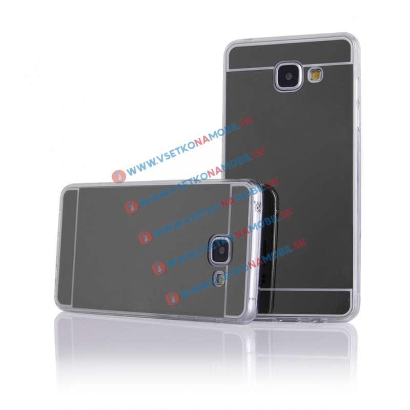 FORCELL Zrkadlový silikónový obal Samsung Galaxy A3 2016 čierny