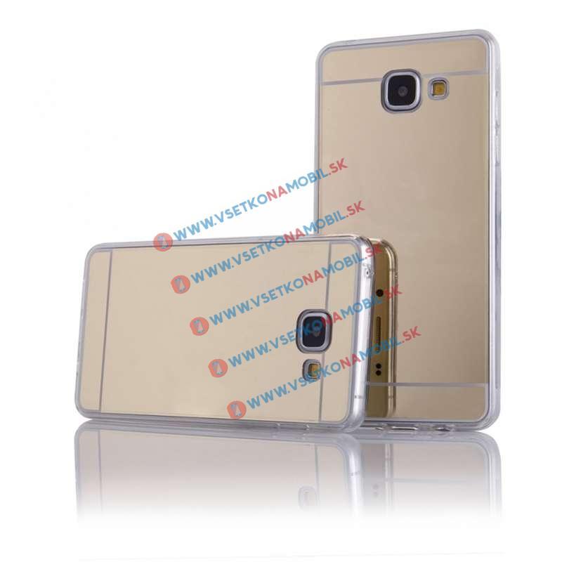 FORCELL Zrkadlový silikónový obal Samsung Galaxy A3 2016 zlatý