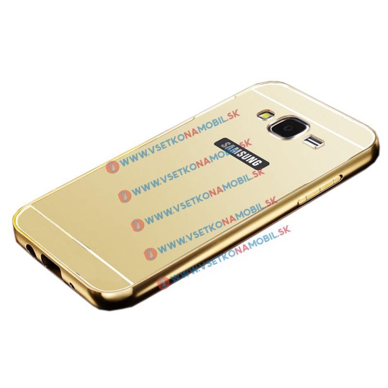 FORCELL Zrkadlový obal Samsung Galaxy J5 2015 (J500) zlatý