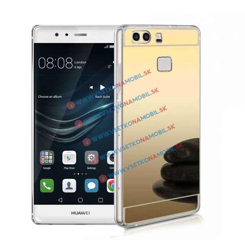 FORCELL Zrkadlový silikónový obal Huawei P9 zlatý