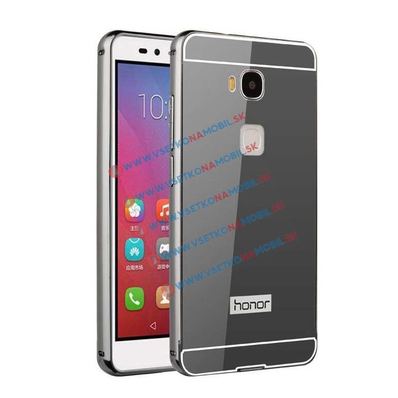 Zrkadlový obal Huawei Honor 5X čierny