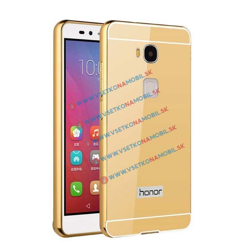 Zrkadlový obal Huawei Honor 5X zlatý