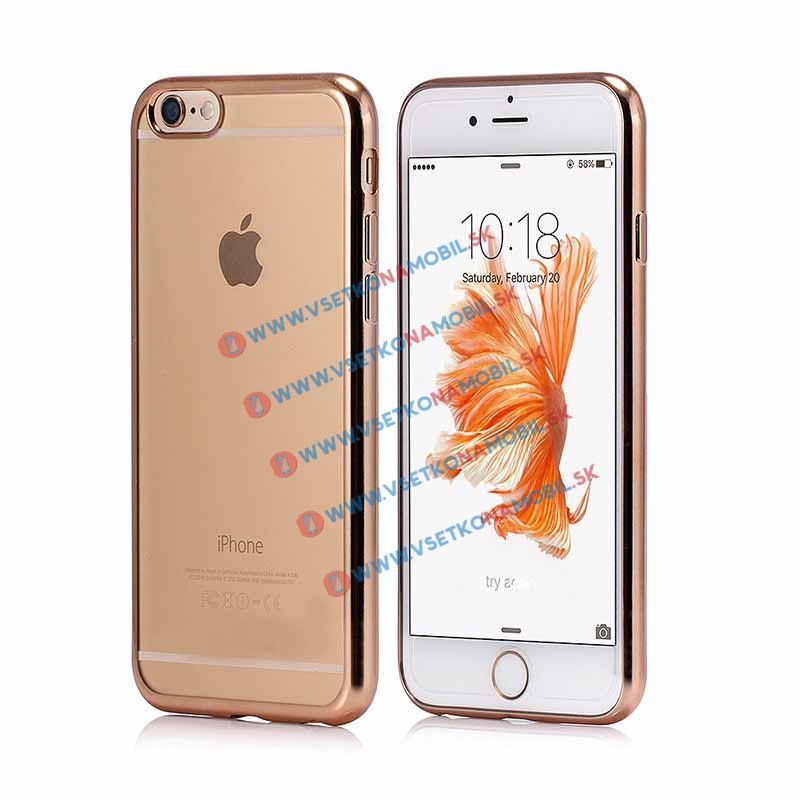 FORCELL Silikonový obal iPhone 6 / 6S zlatý METALLIC