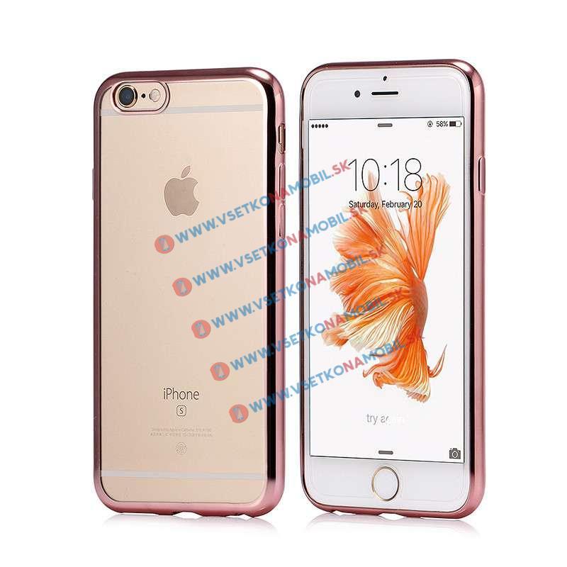 FORCELL Silikonový obal iPhone 6 / 6S růžový METALLIC