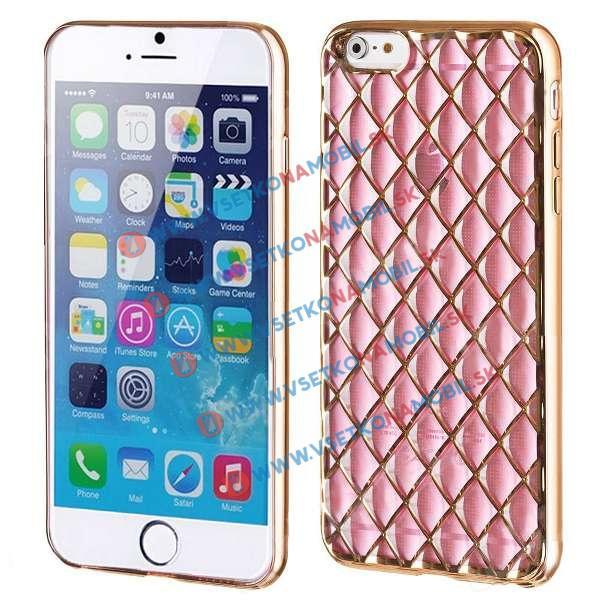 FORCELL Silikónový obal iPhone 6   6S ružový LUXURY 790f88c4603
