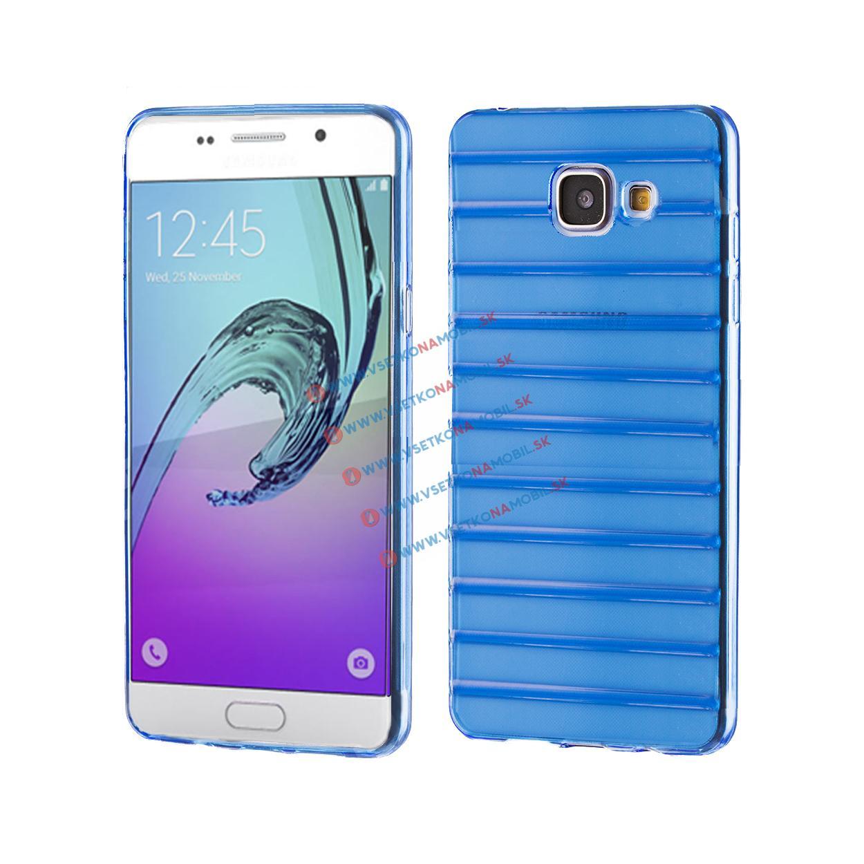 FORCELL Silikónový obal Samsung Galaxy A5 2016 modrý STRIPES