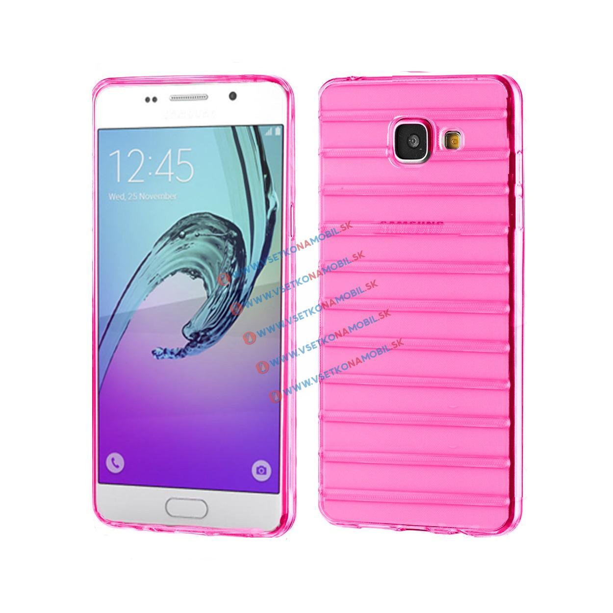 FORCELL Silikónový obal Samsung Galaxy A5 2016 ružový STRIPES