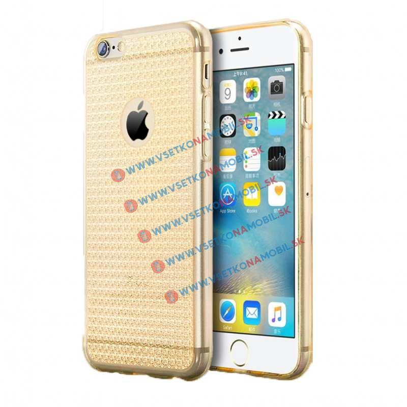 FORCELL Silikónový obal Apple iPhone 6 Plus / 6S Plus GLITTER NEW zlatý