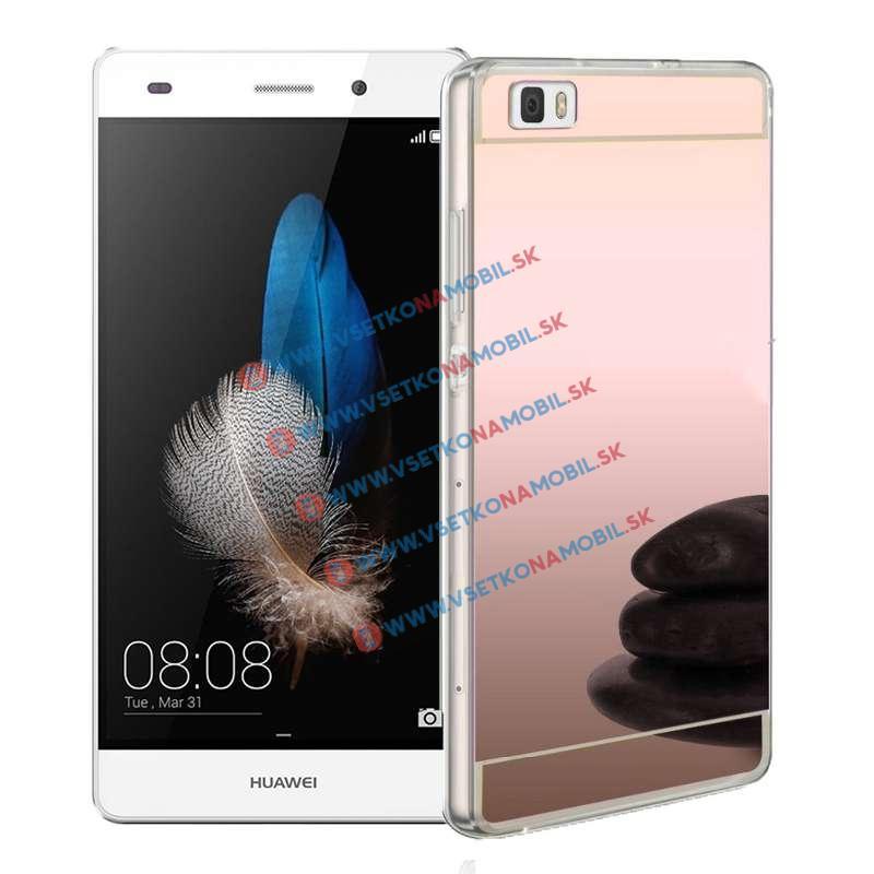 FORCELL Zrkadlový silikónový obal Huawei P8 lite ružový