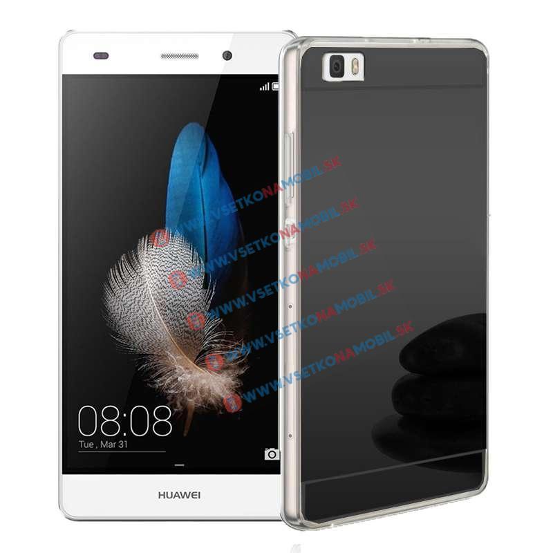 FORCELL Zrkadlový silikónový obal Huawei P8 lite čierny