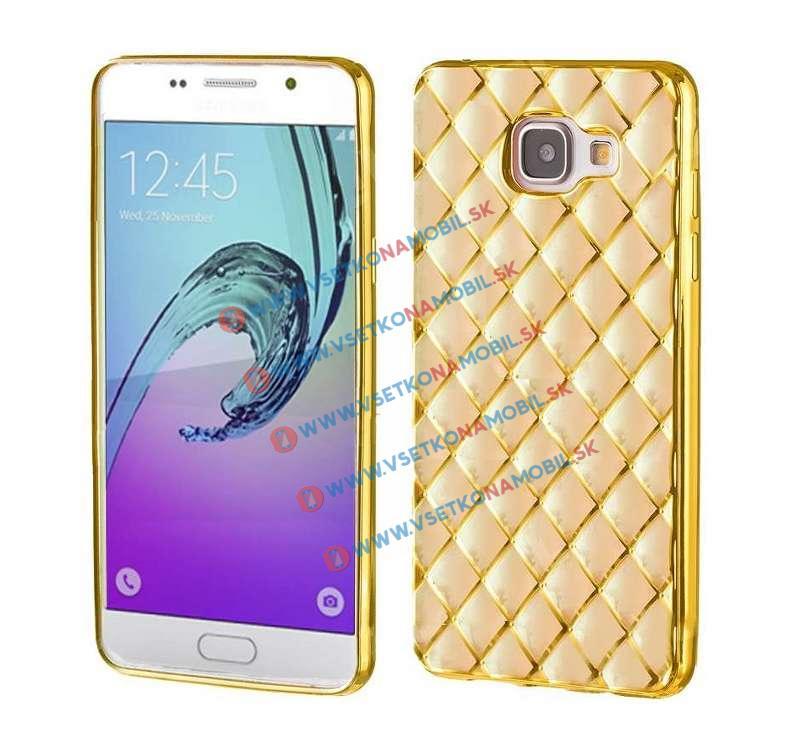 FORCELL Silikónový obal Samsung Galaxy A5 2016 zlatý LUXURY