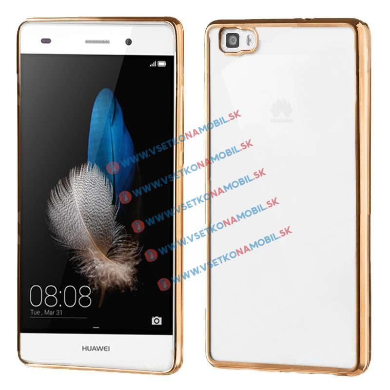 FORCELL Ochranný silikonový obal Huawei P8 lite zlatý METALLIC