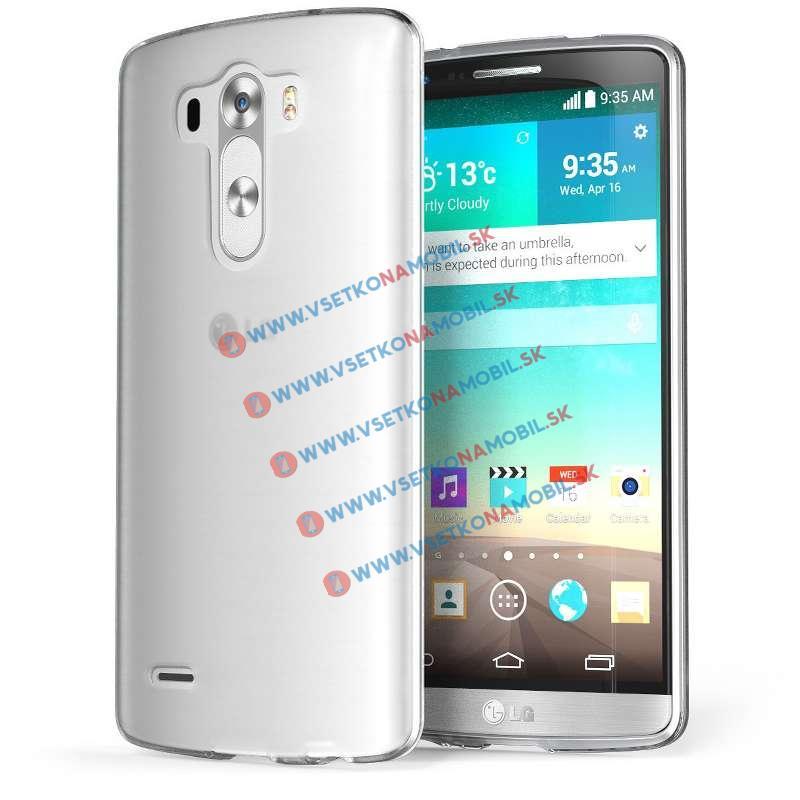 FORCELL Silikónový obal LG G3s (LG G3 mini) priehľadný