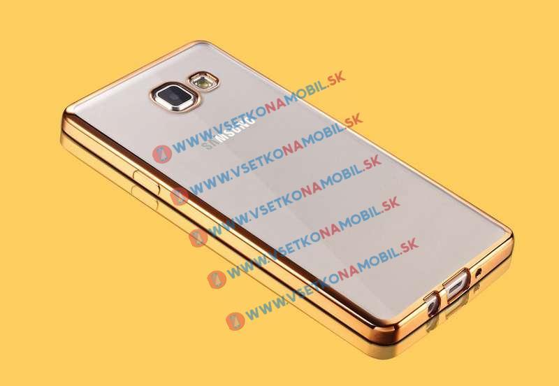 FORCELL METALLIC Silikónový obal Samsung Galaxy A3 2016 zlatý