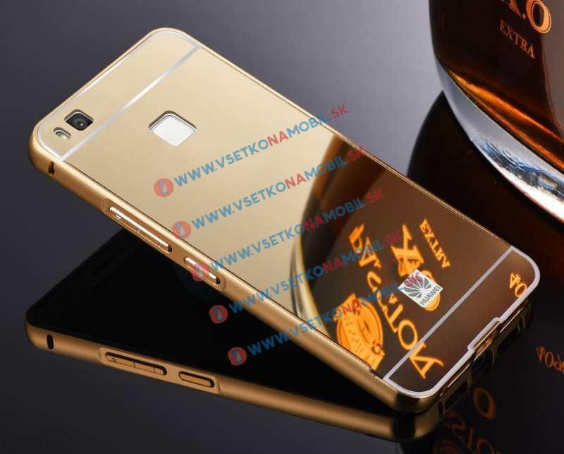 Ochranný zrkadlový obal Huawei P9 lite zlatý