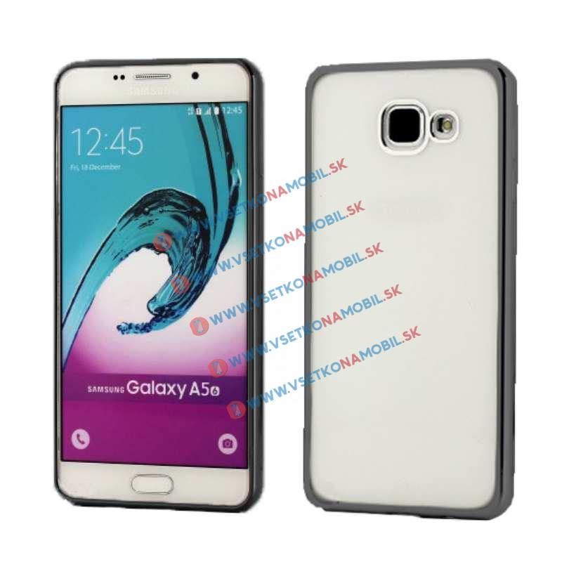 FORCELL METALLIC Silikónový obal Samsung Galaxy A5 2016 čierny