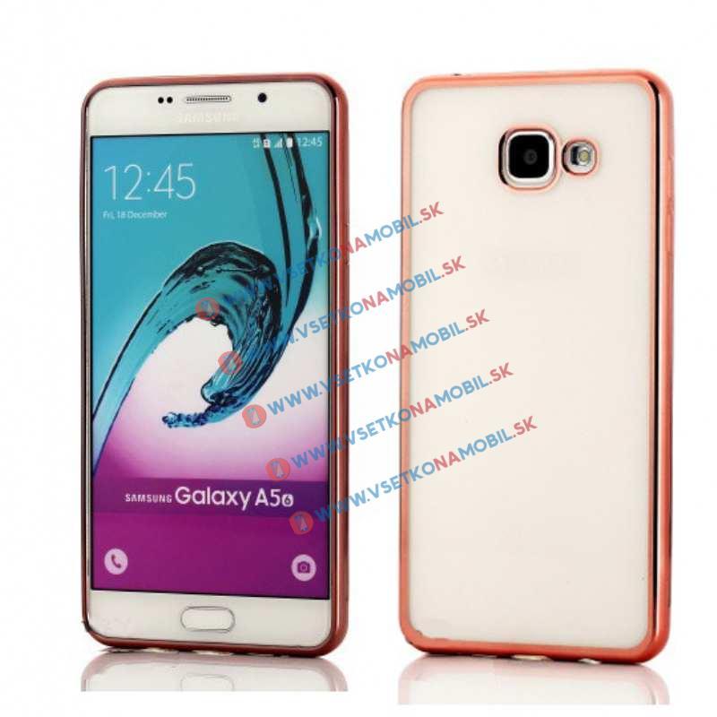 FORCELL METALLIC Silikónový obal Samsung Galaxy A5 2016 ružový