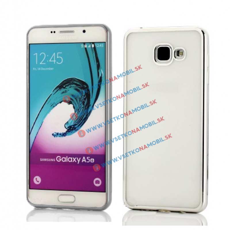 FORCELL METALLIC Silikónový obal Samsung Galaxy A5 2016 strieborný