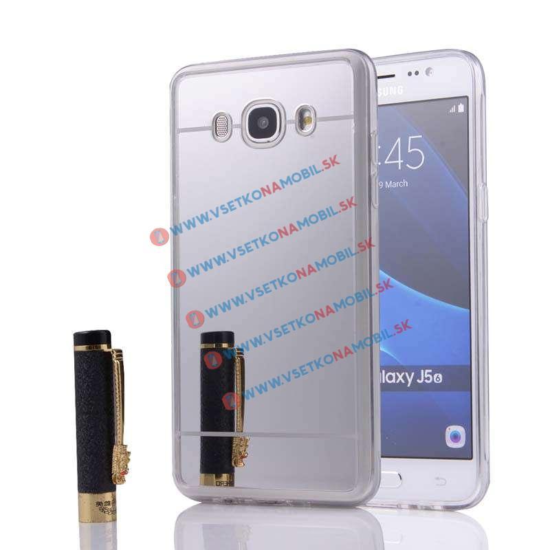 FORCELL Zrcadlový silikonový obal Samsung Galaxy J5 2016 stříbrný