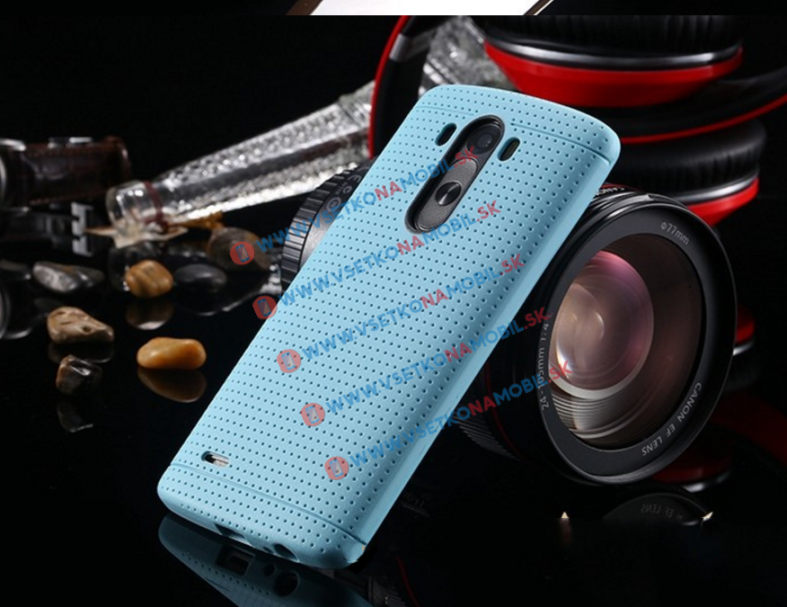 FORCELL Tvrzený gumový obal pro LG G4 světlemodrý (light blue)