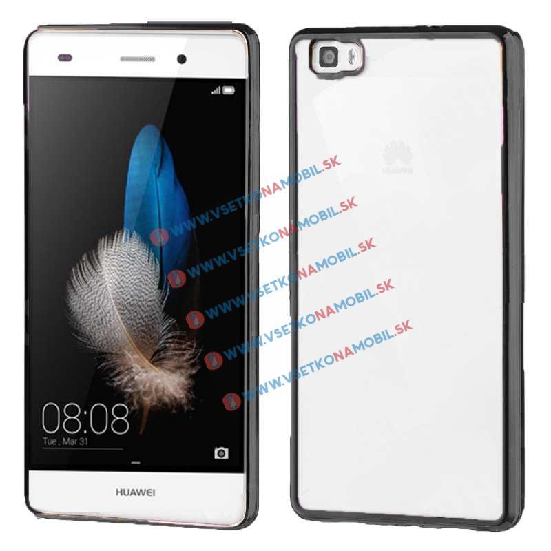 FORCELL Ochranný silikónový obal Huawei P8 lite čierny METALLIC