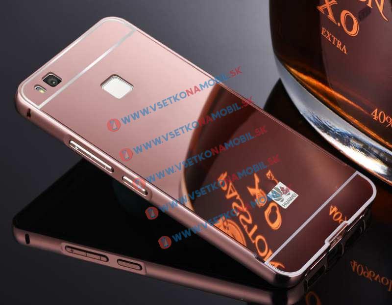 Ochranný zrkadlový obal Huawei P9 lite ružový