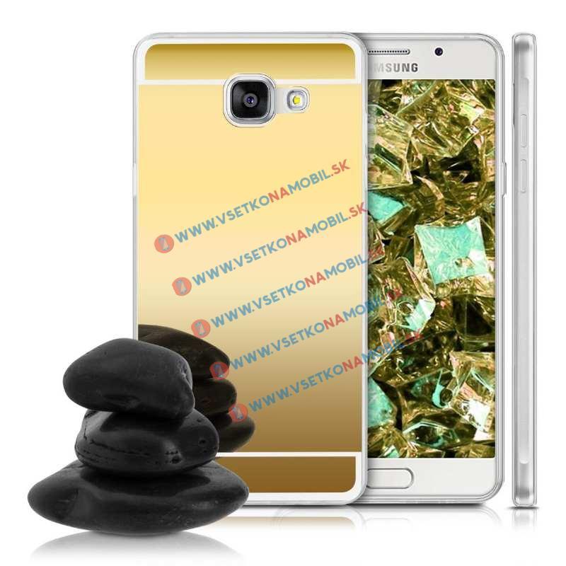 FORCELL Zrkadlový silikónový obal Samsung Galaxy A5 2016 zlatý