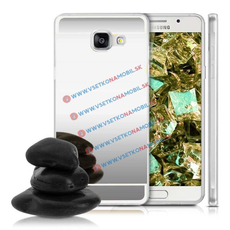 FORCELL Zrkadlový silikónový obal Samsung Galaxy A5 2016 strieborný