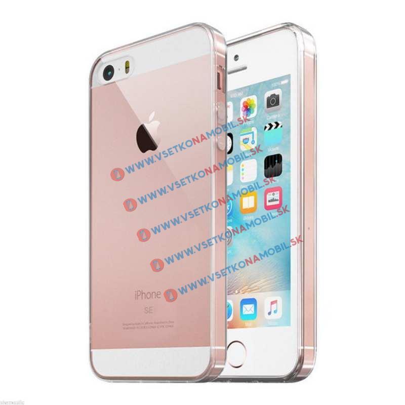 FORCELL Silikonový obal iPhone 5 / 5S / SE průhledný