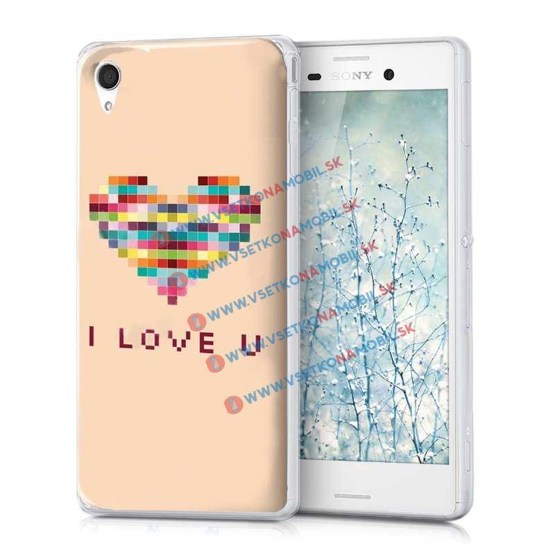 FORCELL Silikonový obal Sony Xperia M4 Aqua LOVE