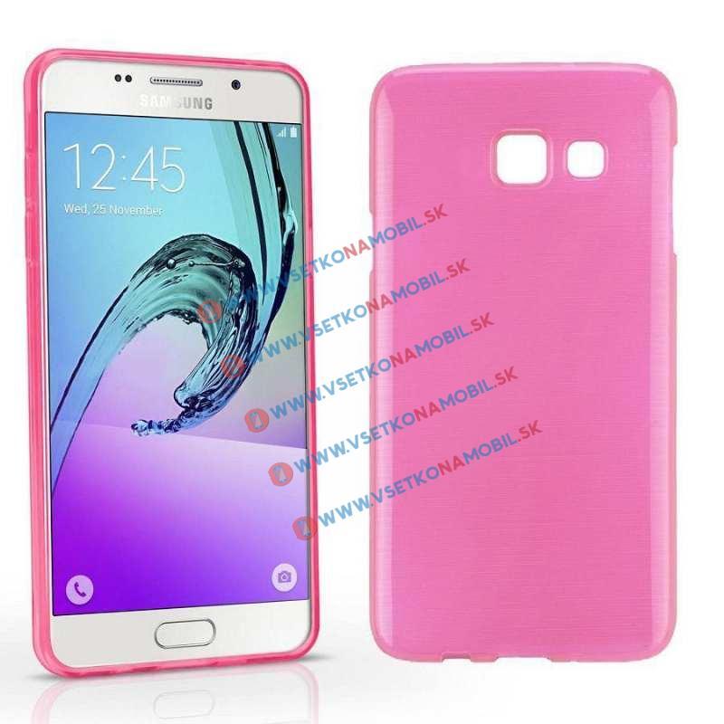 FORCELL Silikónový obal Samsung Galaxy A5 2016 ružový (light) BRUSH