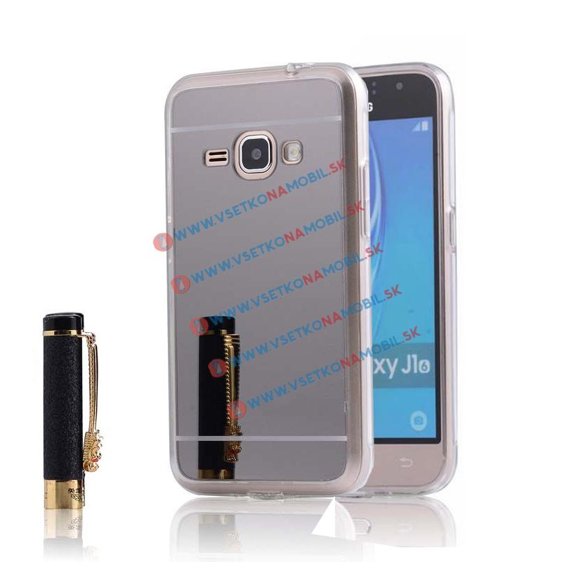 FORCELL Zrkadlový silikónový obal Samsung Galaxy J1 2016 čierny
