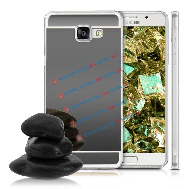 FORCELL Zrkadlový silikónový obal Samsung Galaxy A5 2016 čierny