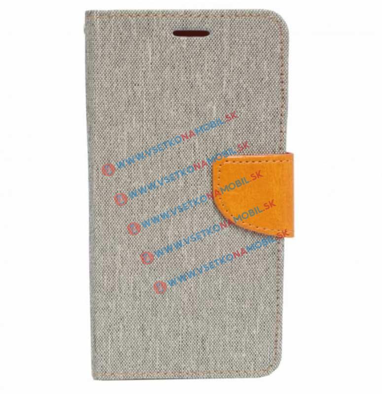 CANVAS Peňaženkové púzdro Huawei Honor 5X strieborné