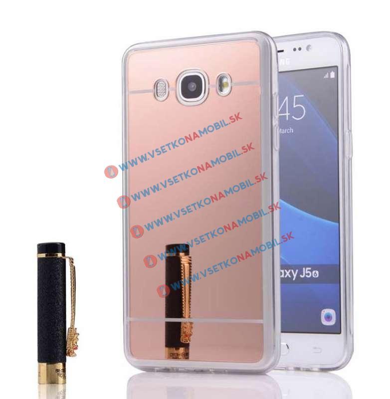 FORCELL Zrkadlový silikónový obal Samsung Galaxy J5 2016 ružový