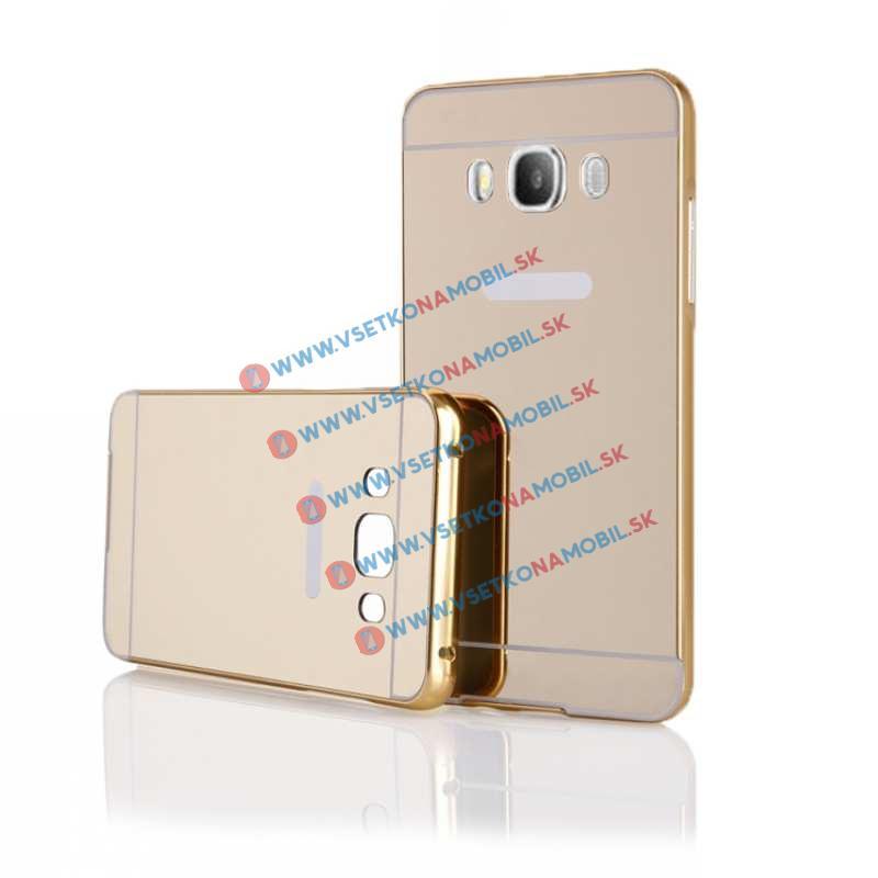 Ochranný zrcadlový obal Samsung Galaxy J5 2016 zlatý