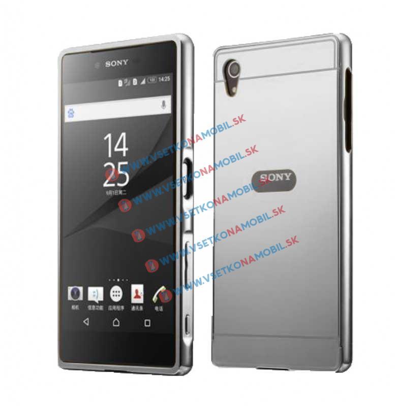 Zrkadlový obal Sony Xperia M4 Aqua strieborný