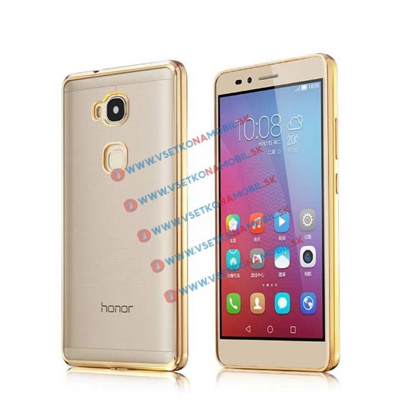 FORCELL Silikónový obal Huawei Honor 5X METALLIC zlatý
