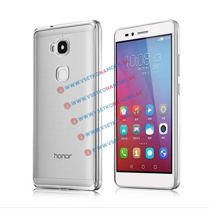 FORCELL Silikónový obal Huawei Honor 5X METALLIC strieborný