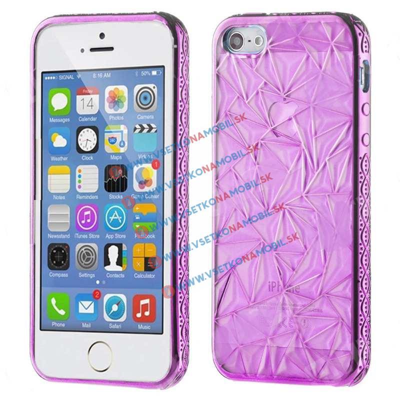 FORCELL Silikónový obal Apple iPhone 5 / 5S / SE DIAMOND fialový