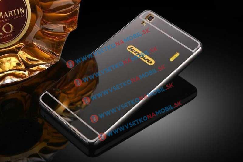 Ochranný zrkadlový obal Lenovo A7000 (K3 Note) čierny