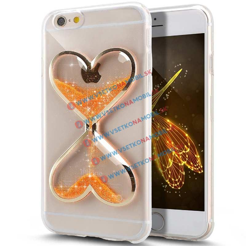 FORCELL Silikonový obal Apple iPhone 6   6S HEART oranžový 404a562c7c9