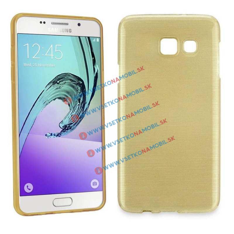 FORCELL Silikónový obal Samsung Galaxy A3 2016 zlatý BRUSH