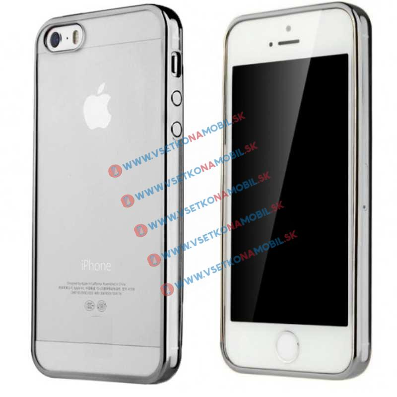 FORCELL METALLIC silikonový obal Apple iPhone 5 / 5S / SE černý