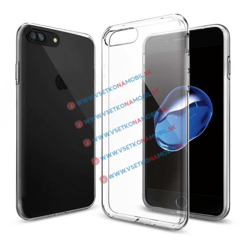 FORCELL Silikonový obal Apple iPhone 7 Plus / iPhone 8 Plus průhledný