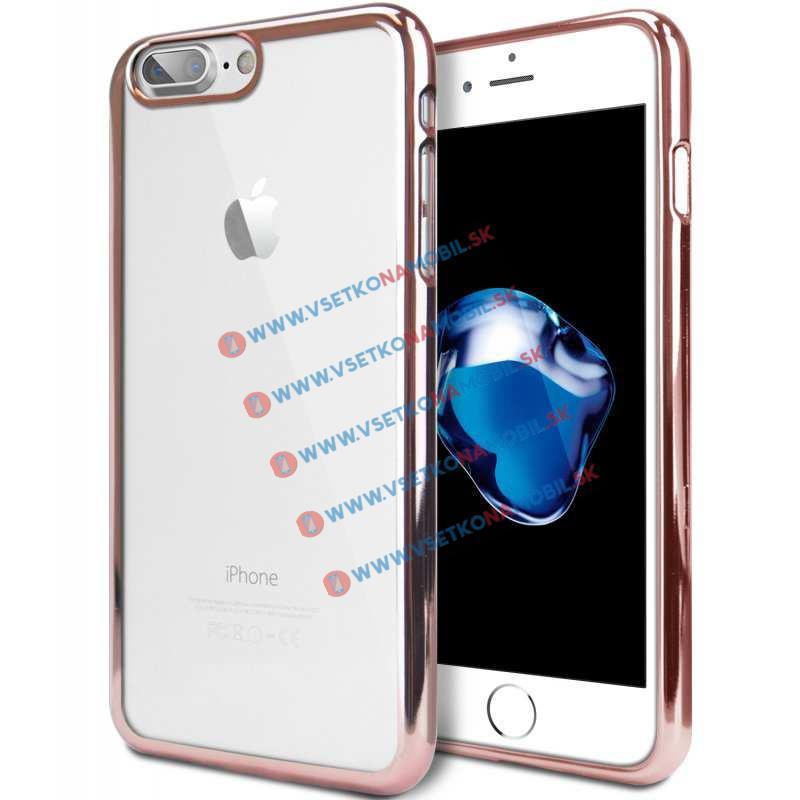 FORCELL Silikonový (gumový) obal pro Apple iPhone 7 růžový