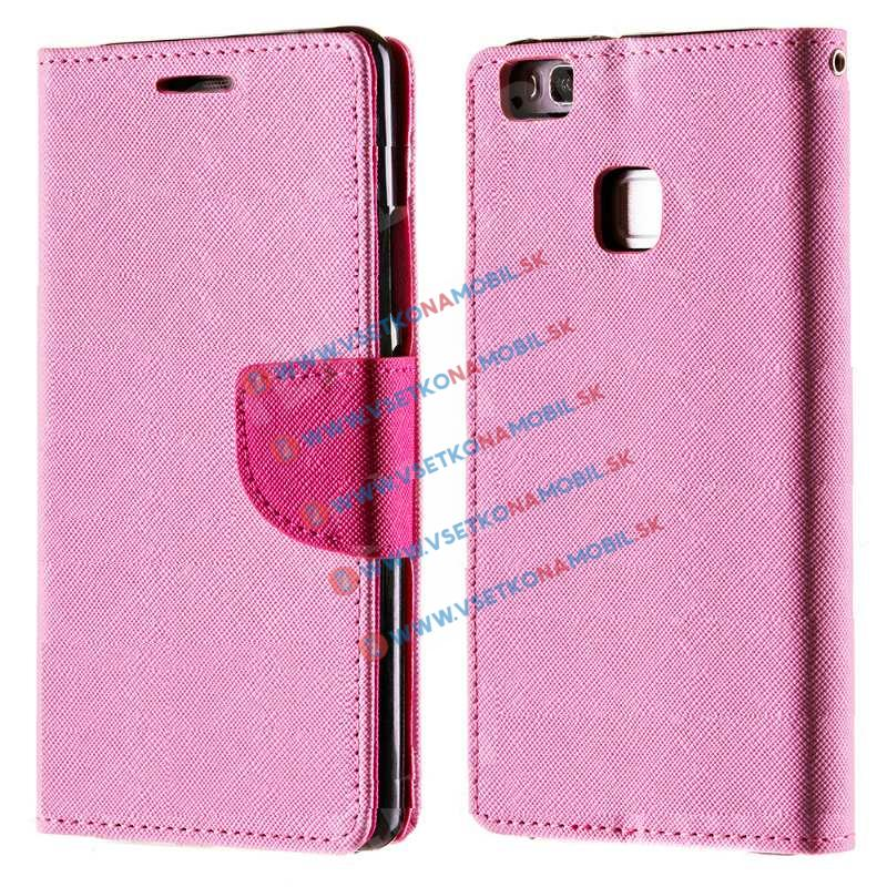 FANCY Peňaženkové pouzdro Huawei P9 lite růžové (light)