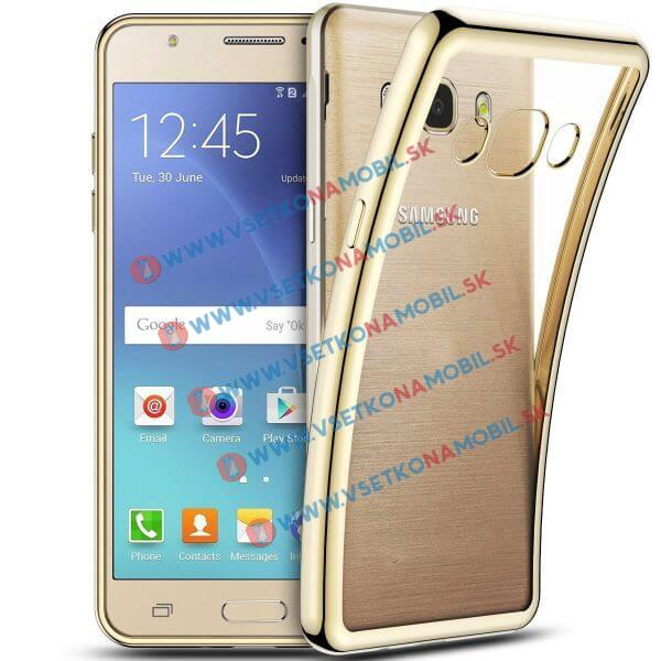 FORCELL METALLIC Silikónový obal Samsung Galaxy J5 2016 zlatý