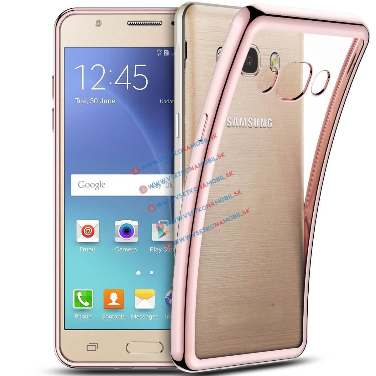 FORCELL METALLIC Silikónový obal Samsung Galaxy J5 2016 ružový