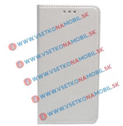 FORCELL MAGNET Knižkové púzdro Sony Xperia M5 strieborné